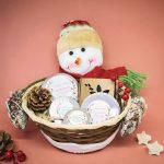 cesta de navidad estándar muñeco de nieve
