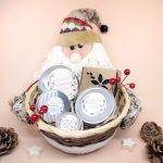 cesta de navidad estándar papa noel