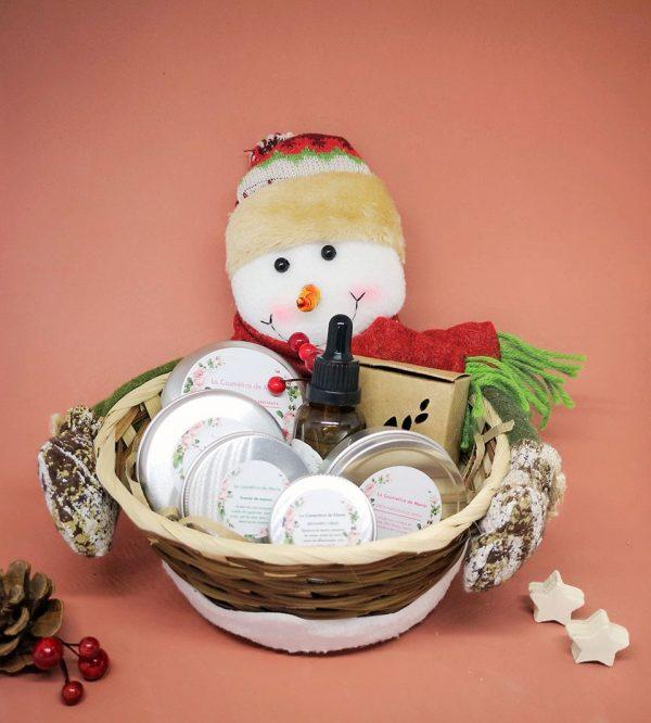 cesta de navidad premium muñeco