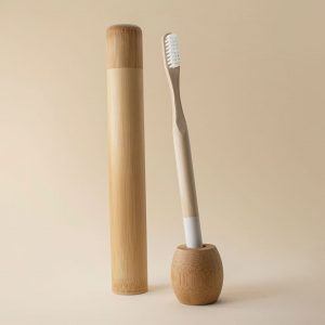 Kit de cuidado dental de bambu